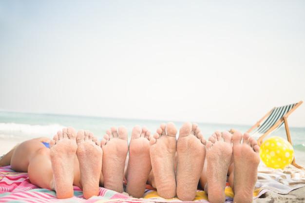 Las consecuencias del verano: pies secos y agrietados